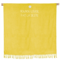 Serviette de plage double jaune curry - 79,90 €