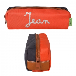 Trousse simple Tann's Orange-Gris