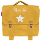 Cartable maternelle coton Jaune moutarde