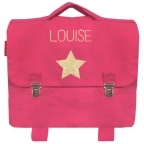 Cartable maternelle coton Rose grenadine
