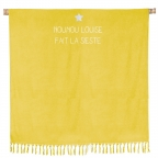 Serviette de plage double jaune curry