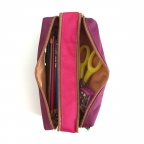 Trousse double Tann's Rose-Violet